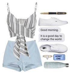 """""""clean"""" by kathrynesker on Polyvore featuring Pull&Bear, Christian Siriano, Vans, Julie Wolfe, S'well and Parker"""