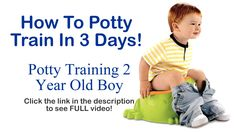 Watch this video and learn secrets on how to potty train your child within 3 days. This will save parents big time by not spending money on diapers! #pottytraining #potty #toddler #diapers