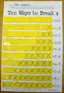 Kinder-Craze: Common Core, Students cut out squares of two two different colors or use bingo markers!