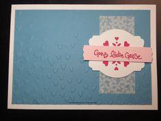 MtS Sketch 164:   Stampin up CS weiß, ozeanblau, wassermelone und zartrosa / Prägeform Blütenregen / Thinlits Fensterschachtel und Etiketten-Kunst / Farbe wassermelone / Stempelset Geniale Grüße