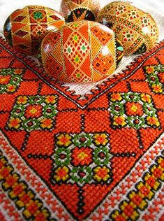 Ukrainian Easter Eggs and Hand Embroidery