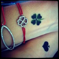 Four leaf clover tattoo & bracelet