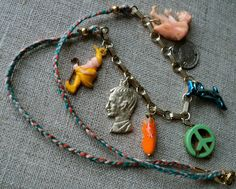 Peace sign gumball charm elf dolphin coin cashmere by talking, $45.00