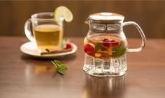 Groupon - 17oz. or 27oz. Ovente Glass Teapot with Warmer Groupon deal price: $21.99