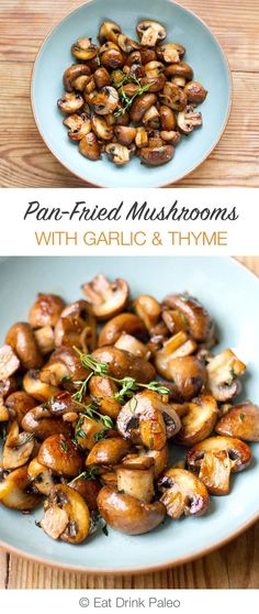 Easy Thyme Garlic Mushrooms (With Video)