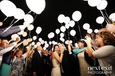 Spectacular LED light balloon release!