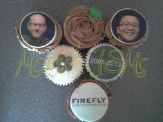 #corporate #cupcakes celebrating the 10th #anniversary of @Fireflylightingdesign