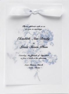 Wedding invitation with photo and wax paper on top google search laura ashley periwinkle invitation kit only the best for your wedding stopboris Gallery