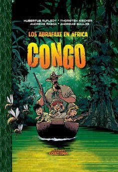 Los Abrafaxe en África - Congo  Abrax, Brabax y Califax, el trío de jóvenes aventureros conocido como Los Abrafaxe, navegan en una canoa atravesando el Valle del N'Gomo, un lugar remoto que se extiende más allá del río Congo. Ninguno de ellos da crédito a la historia que sobre el monstruo del valle cuentan los indígenas, pero de lo que sí están seguros es de que un gran secreto se oculta en lo profundo de la selva virgen...