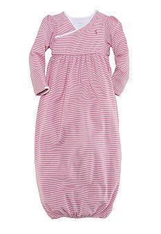 Ralph Lauren Childrenswear Pink Striped Gown belks