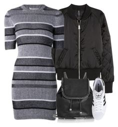 """""""Untitled #10738"""" by theleatherlook ❤ liked on Polyvore featuring H&M, T By Alexander Wang, STELLA McCARTNEY and adidas Originals"""