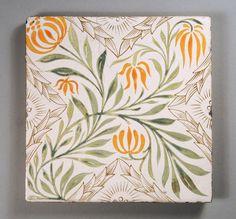 William Morris Stanmore Pattern tile, via Flickr.