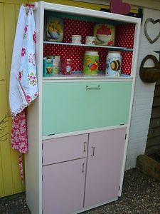 VINTAGE RETRO KITSCH 1950s KITCHEN LARDER CUPBOARD KITCHENETTE | eBay