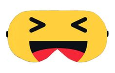 HaHa Lol Facebook Icon Emoji Sleep Eye Mask Masks Sleeping Night Blindfold Travel kit Eyes cover covers patch wear Slumber Eyewear Accessory by venderstore on Etsy