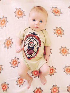 organic cotton baby onesie russian magical tales por supayana, $22.00
