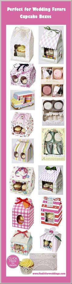 Cupcake boxes wedding favor ideas party ideas wedding decorations www.finditforweddings.com