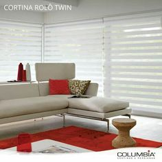 Persiana Double Vision, Persiana Sheer Elegance, Roller Blinds, Couch, Windows, Curtains, Furniture, Columbia, Home Decor