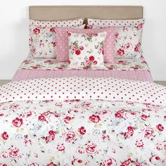 Discover the Cath Kidston Greenwich Rose White Duvet Cover - Single at Amara