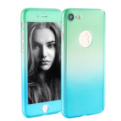 Slim 360 Protection Gradient iPhone Case w/Tempered Glass