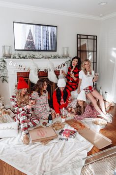 Hosting a holiday pajama party is a great excuse to see old friends and stay in comfy clothes! Find out everything we did on onesmallblonde.com.