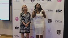 Designer and Founder of Pixton Bridal and Pixton Design Group, Kimberly Pixton interviewing with Vonyetta of Power 98 at the Mint Museum Uptown in Charlotte, NC. May 8, 2015 #producers #fashionshow #lingerie #redcarpet #luxurylingerie