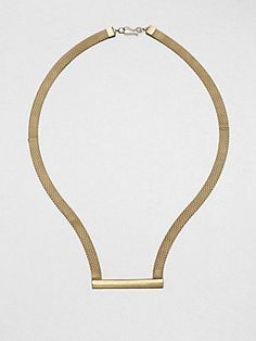 A picture of minimalism, this bar & mesh necklace by Etten Eller is simply chic.  #etteneller