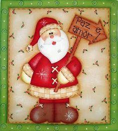Baú de Figuras: Figuras decoupage de Natal, Papai Noel