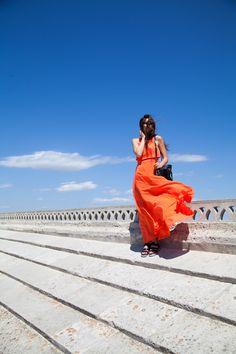 Vestito arancione e in partenza per il Festival del Cinema!