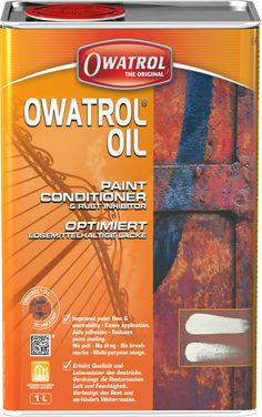 Owatrol Solves the root cause of the rust problem. Owatrol penetrates deep down into the smallest micro pores of the metal all the way down to the 'good steel' behind, displaces moisture and air from those rust pores as it travels, thereby removing all 'rust food' and stops the rusting action.