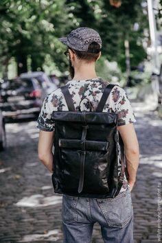 Купить Рюкзак-скрутка в наличии! - черный, кожаный рюкзак, купить рюкзак, рюкзаки интернет магазин