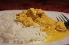 Chicken Not-Quite-Curry (made with saffron instead of curry!)