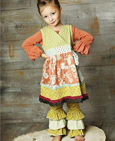 Matilda Jane Clothing, Character Counts, Nora Wrap dress and Davinci Ruffle Leggings (+ size 2)