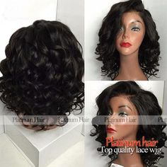 Hot Style Short Bob Wigs With Bangs Heat Resistant Wavy Synthetic Lace Front Wig For Black Women No Tangle Fiber Hair Wigs