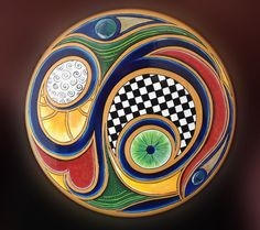 Abstract Lazy Susan by 3peacocks on Etsy, $145.00