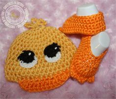 Easter Duck Baby Unisex Crochet Hat Baby by SweetnessInSmyrna, $39.99