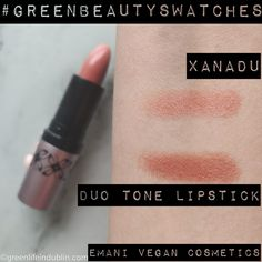 Interesting concept of two toned lipstick is available in green beauty world! See this #EmaniXanadu lipstick and many many more #naturalmakeupswatches in my #GreenBeautySwatches post at Green Life In Dublin (dot) com! Find Green Beauty Swatches boards on my Pinterest & Facebook, as well as #naturalmakeupreviews #naturalskincare reviews & more - with over 500 posts on my two blogs, you are likely to find something you are interested reviewed!