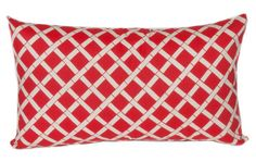 Bamboo Lumbar Outdoor Pillow