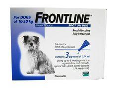 Frontline Spot On For Dogs #Petmedications #Petproductsshop #PetSupplyStore #Pethealthcare #Fleaprevention #fleaandticktreatment