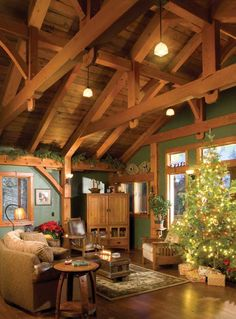 Country home Christmas