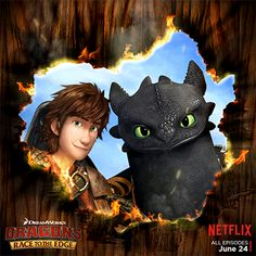 Dragons Race to the Egde #DreamWorks #Hiccup #Toothless