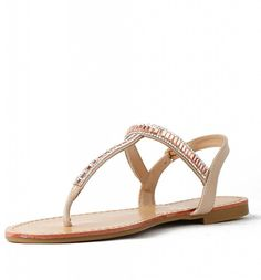 Josalyn 07 Womens Gladiator Rhinestone Thong Flat sandals Nude * Read more reviews of the product by visiting the link on the image. (Amazon affiliate link)