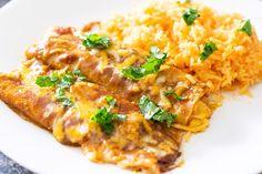 Authentic Enchilada Sauce Recipe - Thrift and Spice Authentic Enchilada Sauce, Recipes With Enchilada Sauce, Chili Recipes, Sauce Recipes, Healthy Recipes, Gorditas Recipe, Entomatadas Recipe, Picadillo Recipe, Mexican Pasta Recipes