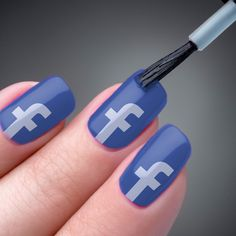 "Facebook is selling a shade of nail polish called ""social butterfly blue"" at its campus store in Menlo Park, CA. Walk-ins only, no online orders. $4.95"
