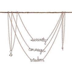 Serenity Courage Wisdom Necklace - Serenity Prayer Necklace - Positive Affirmation Spiritual Faith Jewelry