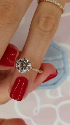 Cute Engagement Rings, Diamond Engagement Rings, Designer Engagement Rings, Solitaire Engagement, Engagement Couple, Pretty Rings, Beautiful Rings, Ring Verlobung, Diamond Cuts