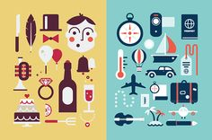 Flat Icons, Illustrations and Glyphs on Behance