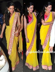 @NargisFakhri #Gorgeous at @SrBachchan family 2014 Diwali Party in #Saree by @SVACouture https://www.facebook.com/SVACouture