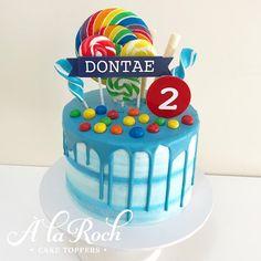 "55 Likes, 5 Comments - @alaroch on Instagram: ""Fun boys birthday cake with blue drip #alaroch #alarochcaketopper #alarochcakesandsweets #cake…"""