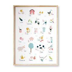 "Printable Farm Alphabet / Alphabet digital print / farm theme alphabet / digital art / kids room decor / instant download / 16""x20""/ 50x70cm #Montessori #montessoribaby #preschool #alphabet #printables #kidsroomsdecor #decoracionbebe #farmhousedesign Alphabet Wall Art, Alphabet Cards, Animal Alphabet, Alphabet And Numbers, Preschool Alphabet, Printable Animals, Printable Art, Printables, Montessori"