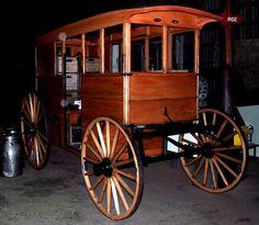1900 Milk Wagon. Horse drawn